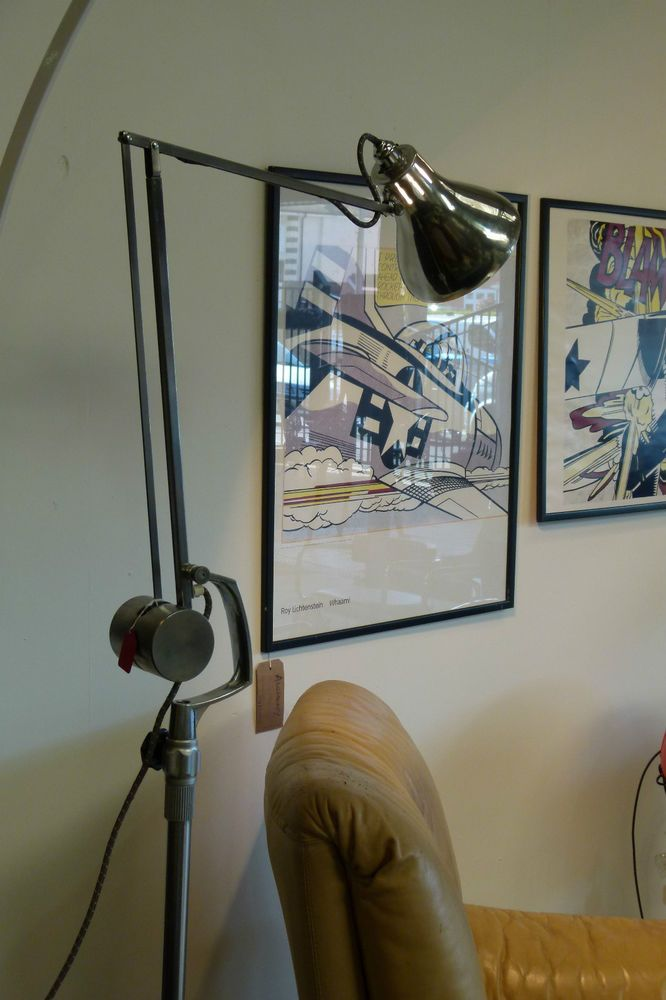 Vintage HADRILL & HORSTMANN  Standard Lamp - Metal & Chrome - VGC