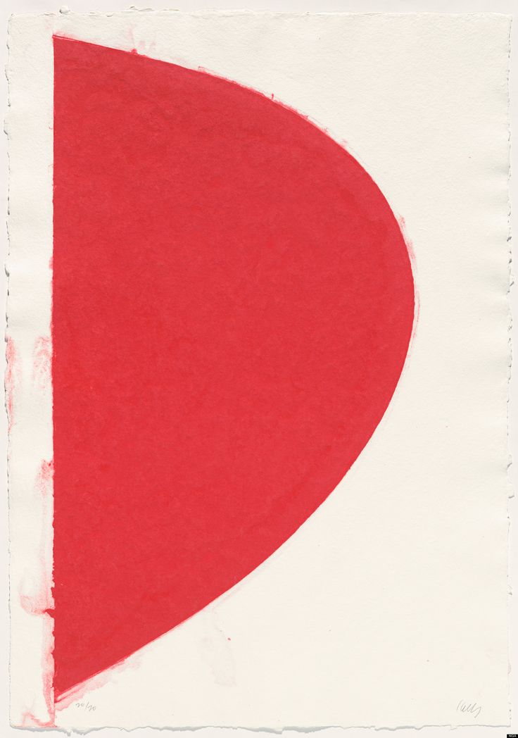 Ellsworth Kelly, Colored Paper Image IV (Red Curve), 1976, colored and pressed paper pulp, sheet (irregular): 118.43 x 83.19 cm, National Gallery of Art, Washington, Gift of Professional Art Group I, © Ellsworth Kelly.