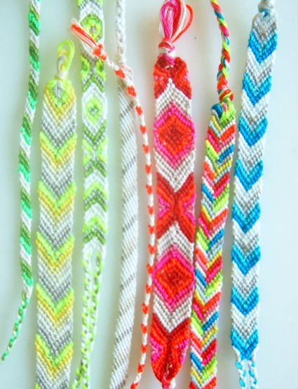 Friendship braclets - All I need is my clipboard....I could make these in my sleep back in the day!!