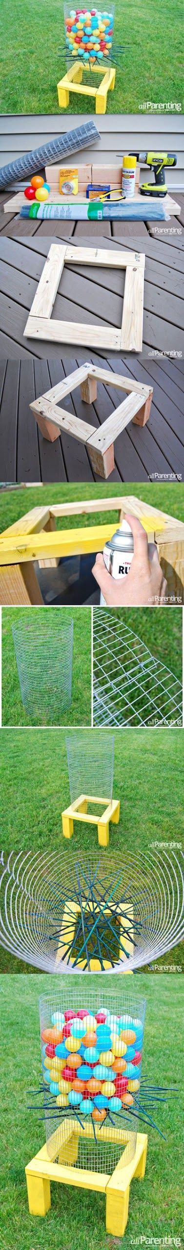 DIY BACKYARD KER-PLUNK GAME