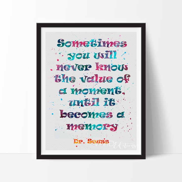 Dr. Seuss Quote Baby Nursery Art Print Wall Decor - VIVIDEDITIONS