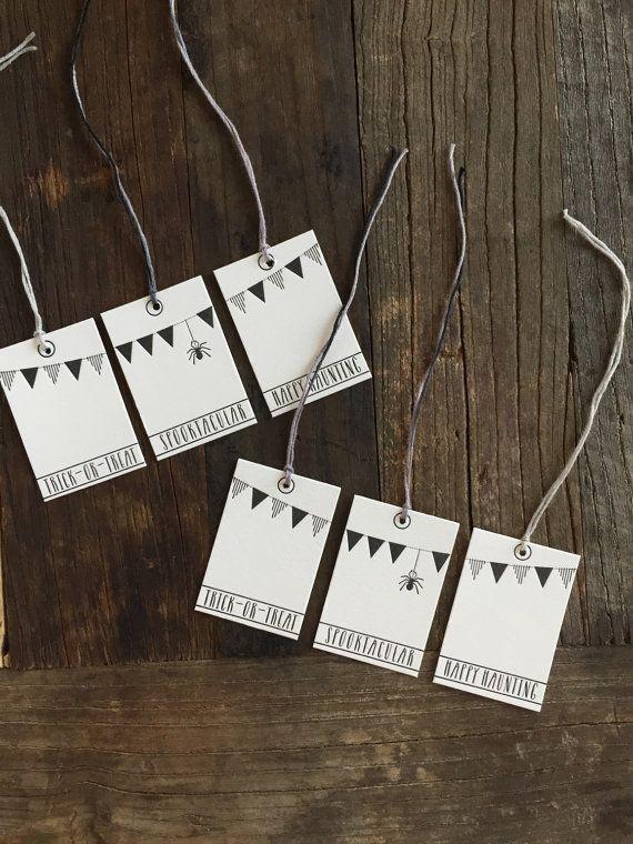 Letterpress HALLOWEEN tags