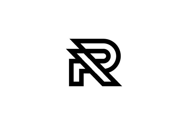 A stylized letter R, very modern and bold. | Illustration quotes,  Lettering, Photoshop illustration