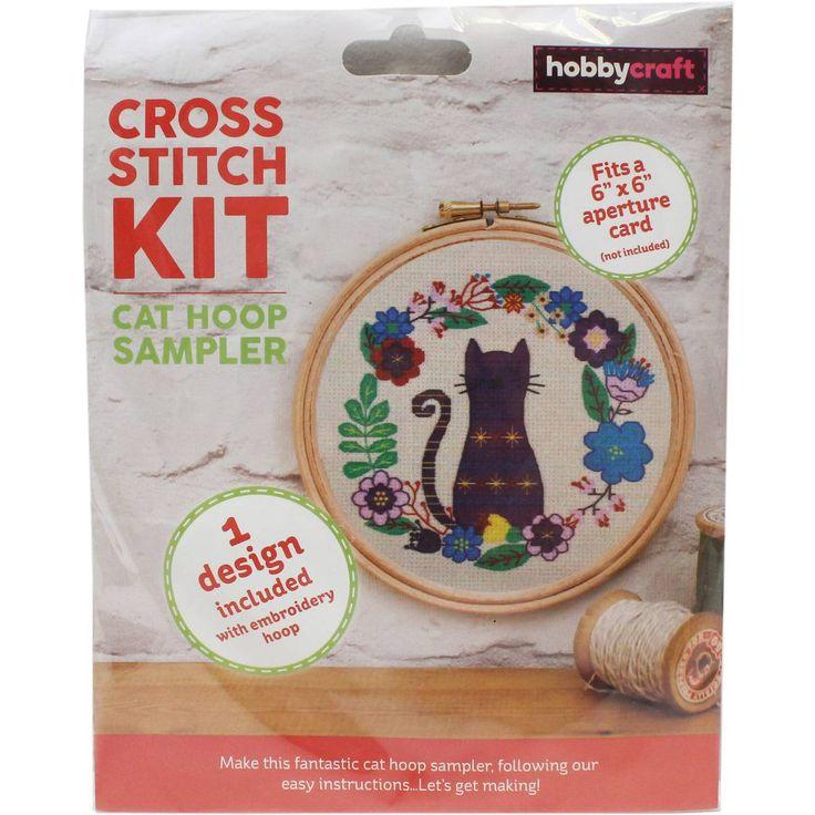Cat Cross Stitch Hoop Kit | Hobbycraft