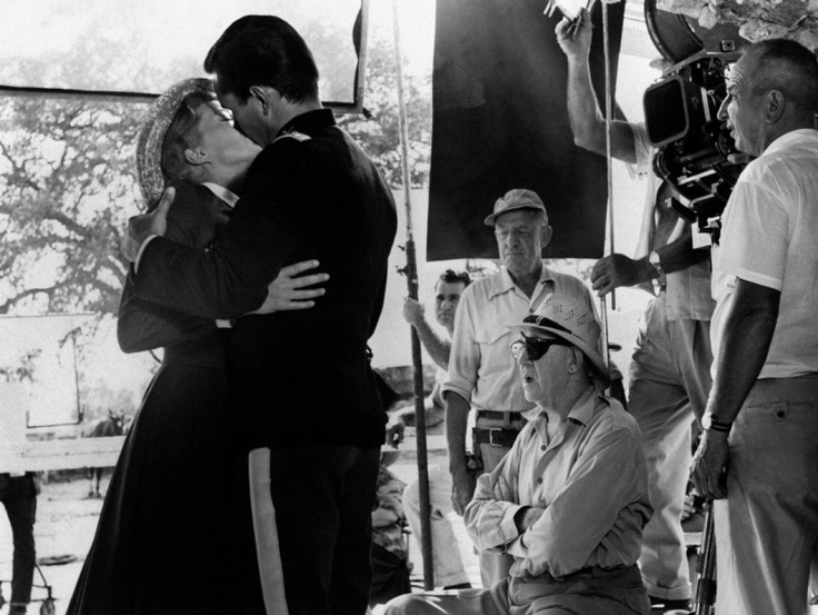 SERGEANT RUTLEDGE - Director John Ford directs Jeffrey Hunter & Constance Towers in love scene - Warner Bros.
