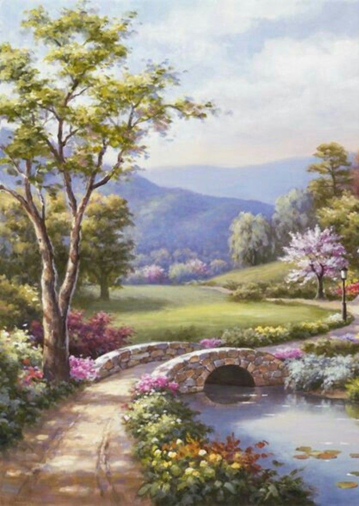 Pin By Letitia Doina On Peinture Paysage Landscape Paintings Oil Painting Landscape Landscape Art