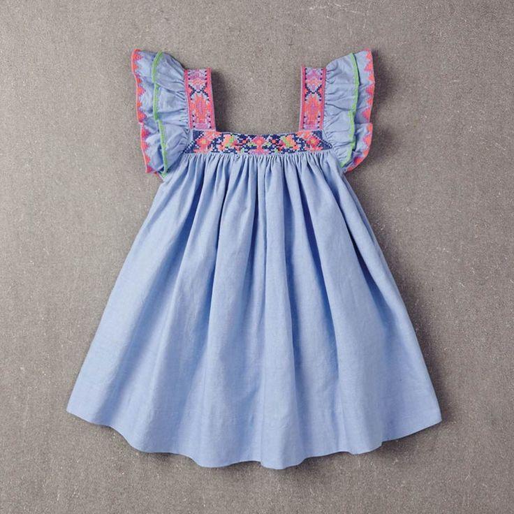 Nellystella Chloe Dress in Chambray | BabySwag