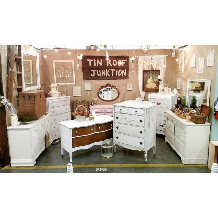 Vintage Booth At The Depot At Gibson Mill Shabby White