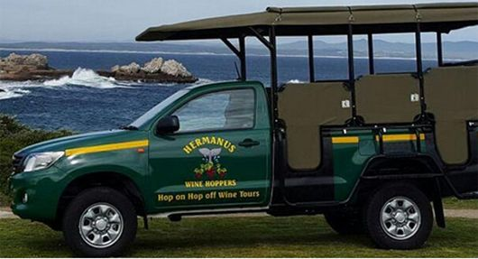 The famous land based whale-watching hotspot of Hermanus has just launched a brand new travellers' feature to their tourism offering – a hop-on-hop-off wine route along the