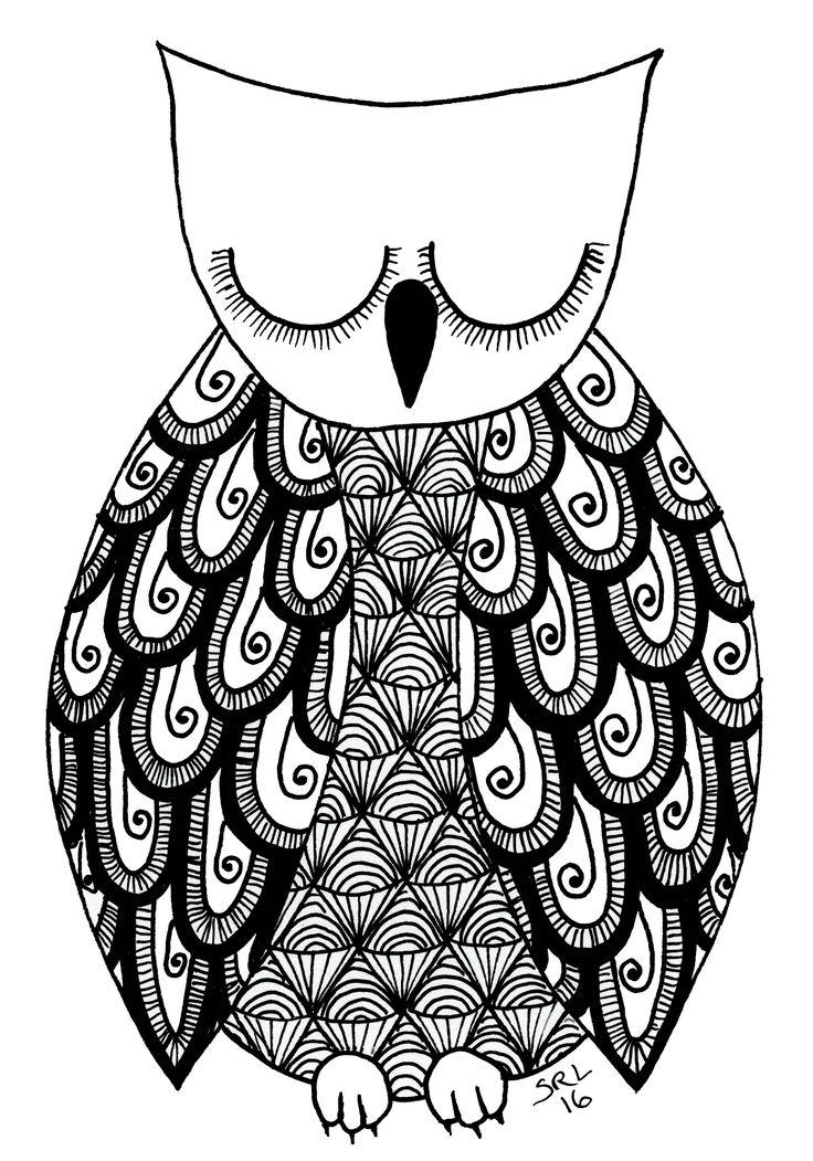 Owl 4 by Sandy Rosenvinge Lundbye. Copyright 2016.