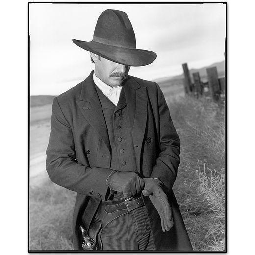 Kevin Costner on the set of Wyatt Earp, Santa Fe, New Mexico by Mary Ellen Mark