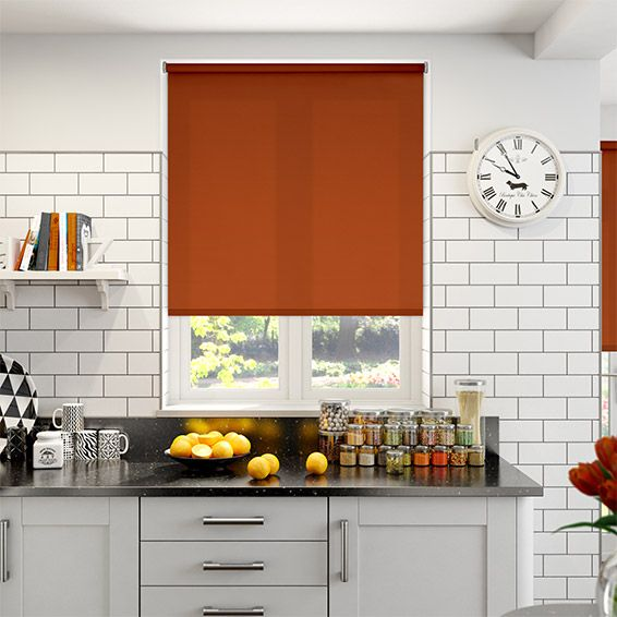 Valencia Rusty Orange Roller Blind from Blinds 2go