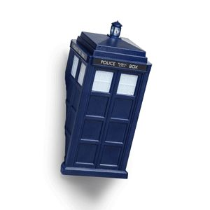 Get yourself a little TARDIS to light your way with the TARDIS Vortex Wall Light. The TARDIS is cleverly sliced so that when it's hung, it looks like it's emerging from your wall. Its windows light up and the roof lantern blinks (you caught it mid-vworp).