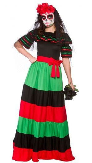 26f701c833c Day of the Dead Senorita Plus Size Costume (HF5111)