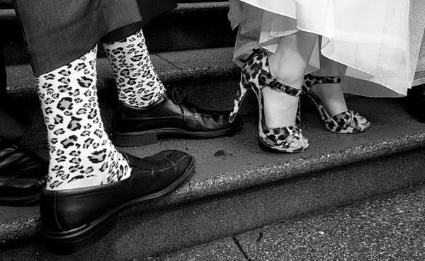 all the little details...animal print wedding socks and shoes