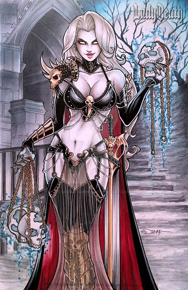Lady Death by sorah-suhng.deviantart.com on @DeviantArt - More at https://pinterest.com/supergirlsart/