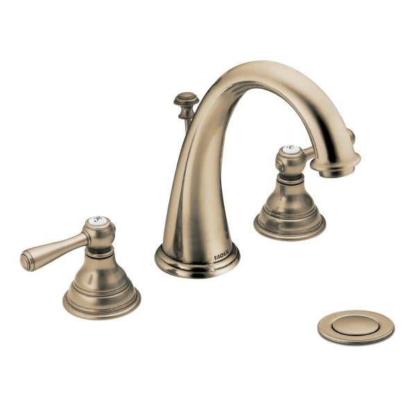 Powder Room Kingsley Antique Bronze Two Handle High Arc Bathroom Faucet T6125az Artesian