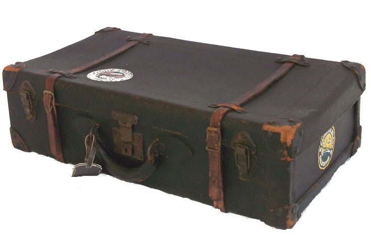 Vintage Leather Suitcase | Black Leather Vintage Suitcase ...