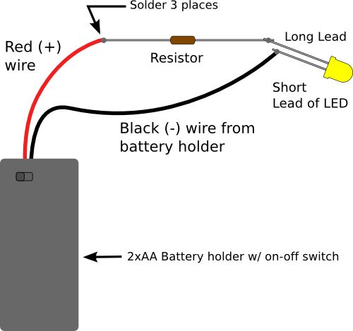 led and circuit diagram on