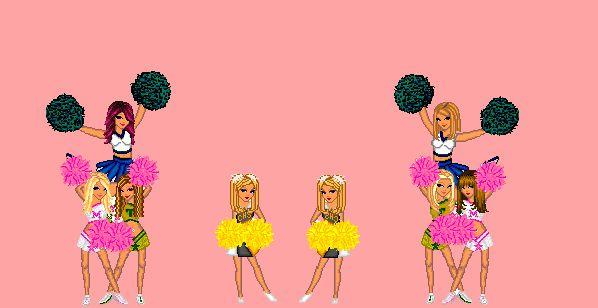 Gify cheerleaderki to animowane Czirliderki wymachujące pomponami w rytmie muzyki. Zazwyczaj są to t...