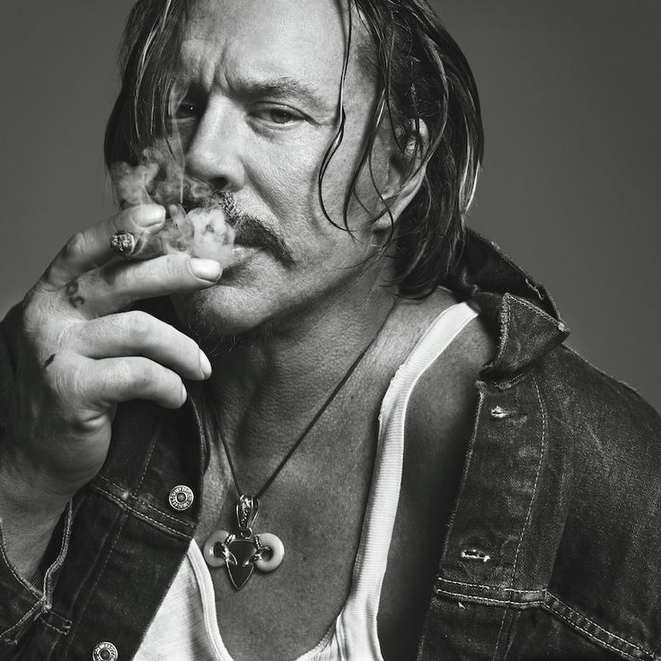 Mickey Rourke photographed by Inez Van Lamsweerde and Vinoodh Matadin.