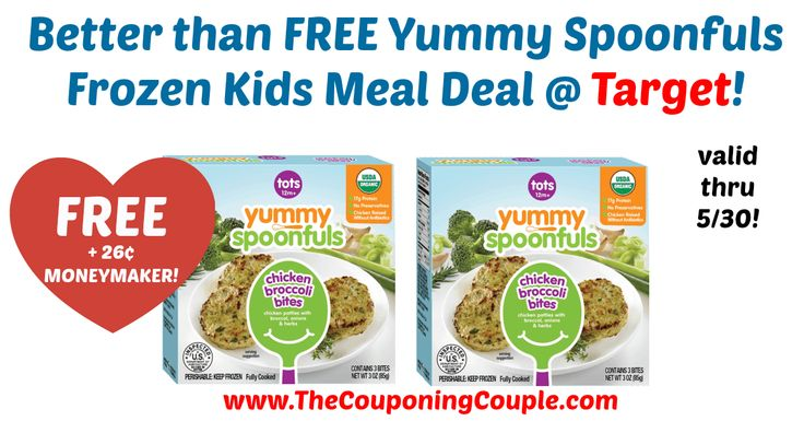 HOT HOT HOT!!! Grab yours through 5/30! Better than FREE Yummy Spoonfuls Frozen Kids Meal Deal @ Target!  Click the link below to get all of the details ► http://www.thecouponingcouple.com/better-than-free-yummy-spoonfuls-frozen-kids-meal-deal-target/ #Coupons #Couponing #CouponCommunity  Visit us at http://www.thecouponingcouple.com for more great posts!