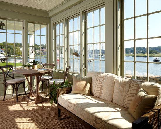 New House Southport Ct Sunroom Off Kitchen