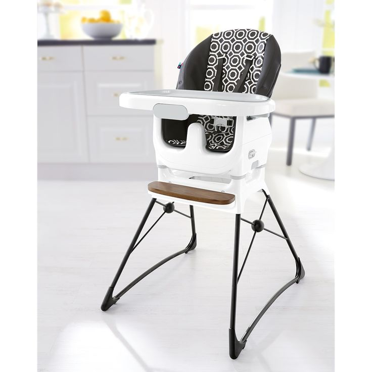 Jonathan Adler Crafted by Fisher-Price Deluxe High Chair -- At first glance, you might not want to feed your baby in a high chair this beautiful, but you'll reconsider because it's so easy to clean. Both full size high chair and a removable SpaceSaver High Chair that fits most chairs! Clean-up is a breeze with the crevice-free seat pad and simply wipes clean. With three-position height adjustment and three-position recline, your little one stays comfy even after growth spurts!