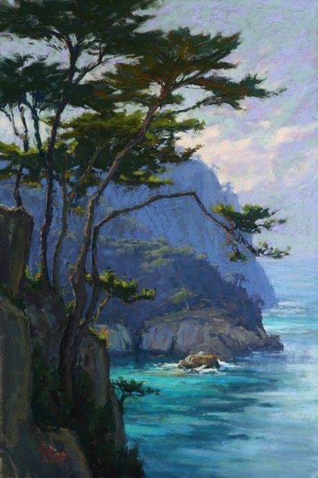 Lordier, Kim (b,1966)- Ocean, Cliffs