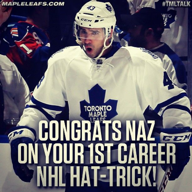 Nazem Kadri recorded his first NHL hat-trick against the Islanders