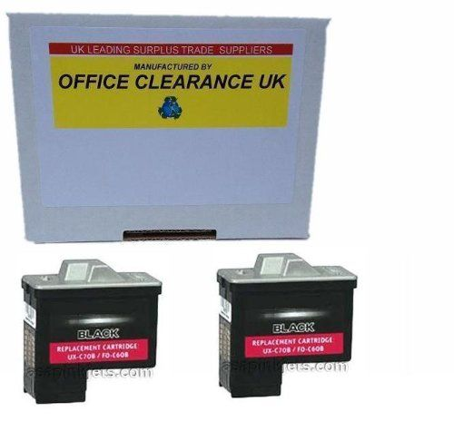 Compatible Double Pack - 2 Cartridges - Sharp / Dell / Lexmark - inkjet fax printer cartridge to fit Sharp Fax Machines UX BS60 UXb s60 uxbs 60 - Discount City have sold over 50000 products on Amazon. The savings offered often reduce by 50% the cost of running your printer. Clearances UK act as a sales agent for Discount City. Please not these are electrically tested only. You need to know how to refill cartridges and we do not warrant... - http://ink-cartridges-ireland.com/c