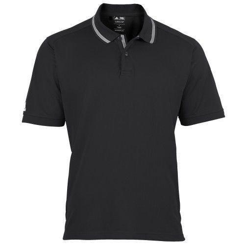 Adidas Tipped Clima Polo Shirt,Rib collar, Golf, New - AD019