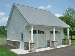 42 best images about pole barn on pinterest dark gray for 4 car pole barn
