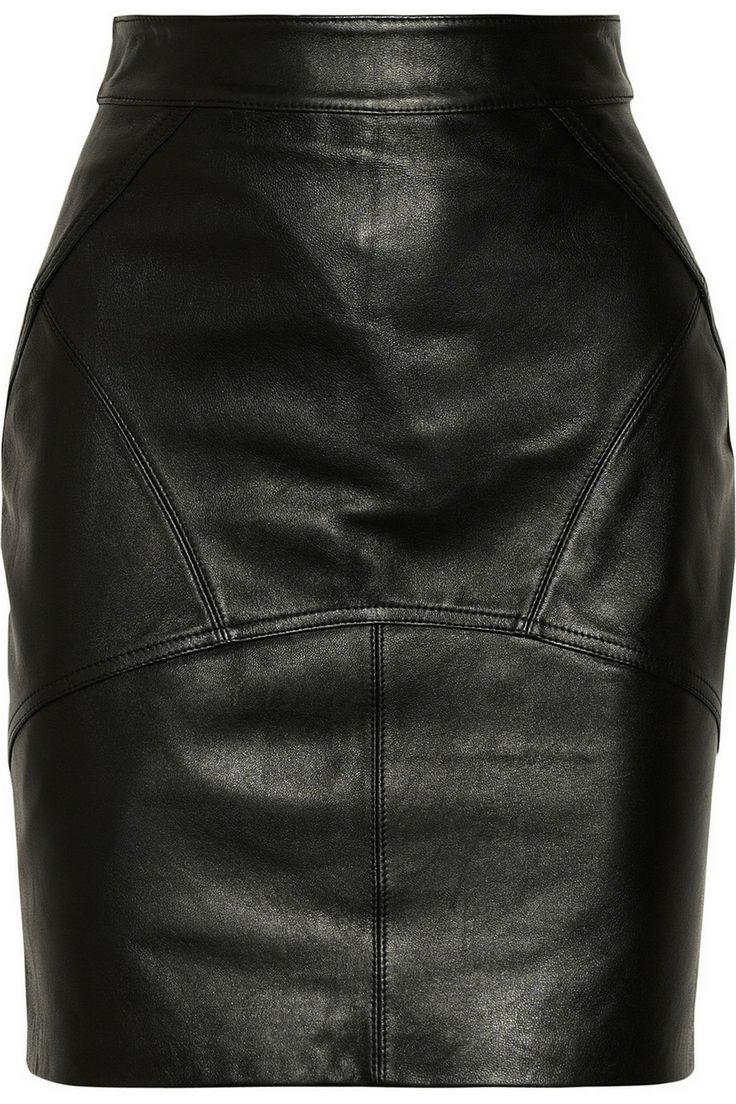 T by Alexander Wang | Stretch-leather pencil skirt | NET-A-PORTER.COM