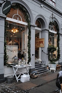 Antikviteter Shop, Christmas in Copenhagen, Denmark