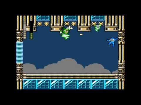Tornado Man from Mega Man 9, defeated by steg140. The Plug Ball will skitter along the walls and ceilings, making it easy to hit him high or low.