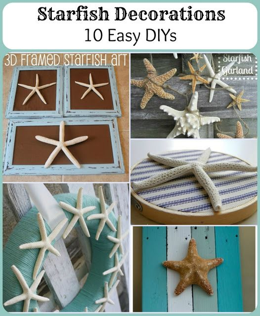 Starfish Decorations: 10 Easy DIYs from some fabulous creative bloggers!