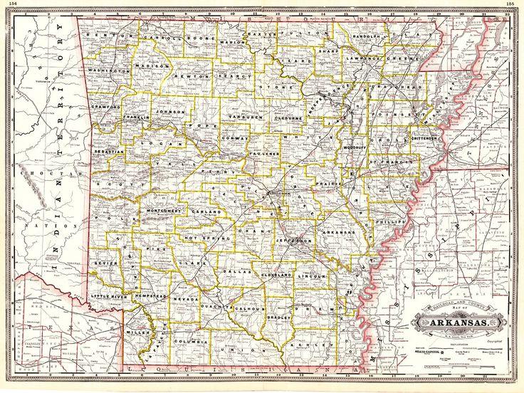 Best Arkansas Images On Pinterest Globes Arkansas And Chicago - State of arkansas county map