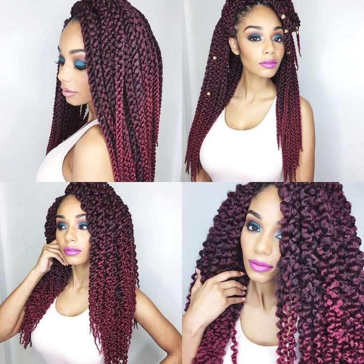 """Afri-Naptural 3D Split Cubic Twist by @isis_hair_inc , four looks to try.  Look #1 Wear the twists down in its natural state  Look #2 Try a pin-up or up-…"""