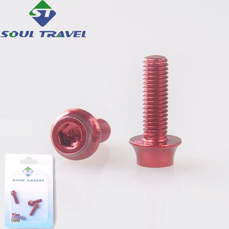 Soul Travel Hexagonal Bicycle Bottle Holder Screws Bolt Aluminum Water Cage Screw Cycling Bike Accessories Limited Bicicleta