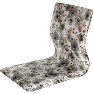 Amazon.com: Oriental Furniture Japanese Style Game Chair, Tatami Meditation Backrest Chair, White Floral: Home & Kitchen