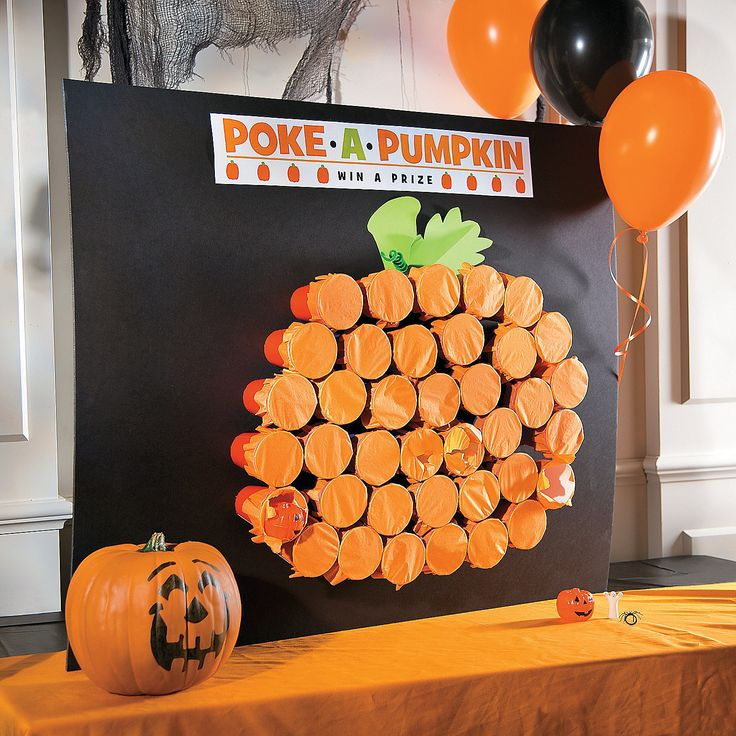 are you looking for a fun game to play during your halloween party then check out this awesome classic halloween poke a pumpkin game idea - Game Ideas For Halloween Party