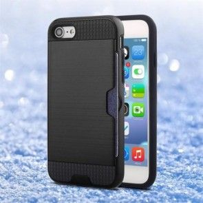 Husa  iPhone 7, Combo Cover, Silicon + PC, Negru