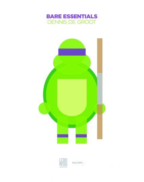 Door 's werelds meest bekende karakters terug te brengen tot simpele kleuren en vormen, onderzoekt Dennis de grens tussen herkenning en detail. Bare Essentials - Dennis de Groot #vormgever #illustraties #boek #lebowski