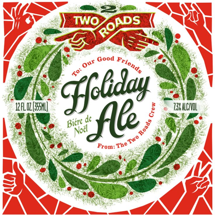 "HOLIDAY ALE BIERE DE GARDE  Two Roads Holiday Ale is inspired by the little known Biere de Noel style, a subset of Biere de Garde, both of which originated on small farmhouse breweries in the north of France. Biere de Noel, which translates as ""Christmas Beer,"" tends to exhibit a more malty profile than a typical Biere de Garde."