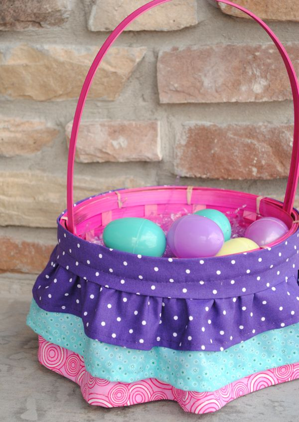 68 best diy easter basket ideas images on pinterest gift basket how to make a ruffled easter basket so cute and it can be customized negle