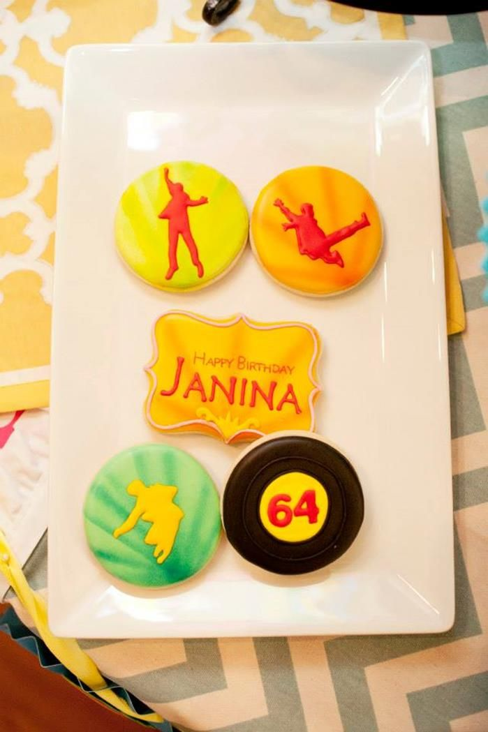 """Cookies at a Beetles """"When I'm 64"""" Birthday Party with So Many Really Cute Ideas via Kara's Party Ideas   KarasPartyIdeas.com #Beetles #PartyIdeas #PartySupplies #cookies"""