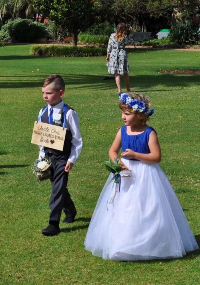 Ring boxes and flower girl baskets