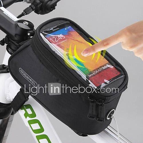 ROSWHEEL Bolsa para Bicicleta 1.5LBolso del teléfono celular Bolsa para Cuadro de Bici Bolsa para GuardabarroImpermeable Cremallera a 2017 - $176.52