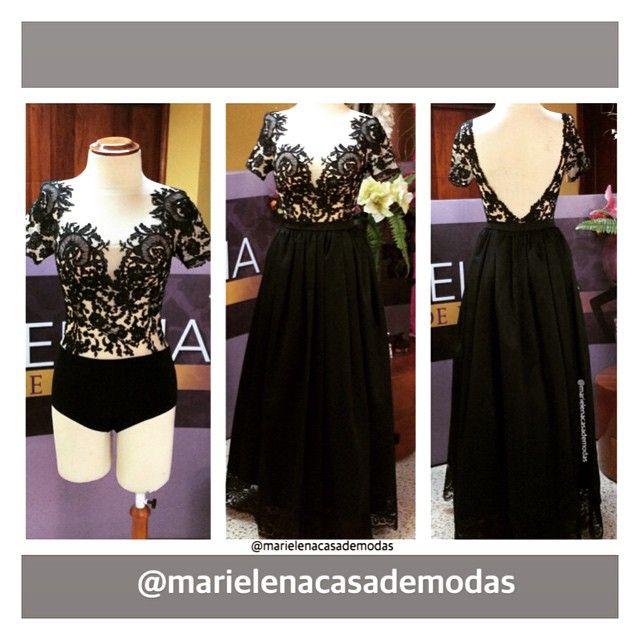 Una muestra de cómo convertir un vestido elegante en dos piezas prácticas... Un #bodysuit de #chantilly y una maxifalda, fue el pedido especial de María Raquel Serrano Espinosa
